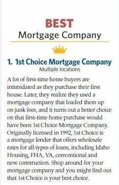 best mortgage company award