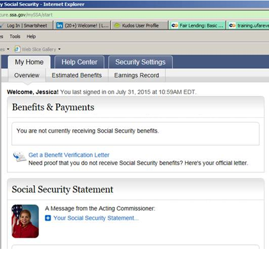 Getting your social security award letter home loan mortgage 1st you can also get a copy of your social security statement online on the same screen altavistaventures Images
